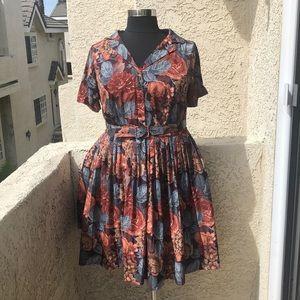 ModCloth Myrtlewood shirt dress with belt